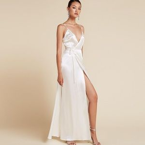 Reformation Alexandria silk bridal dress